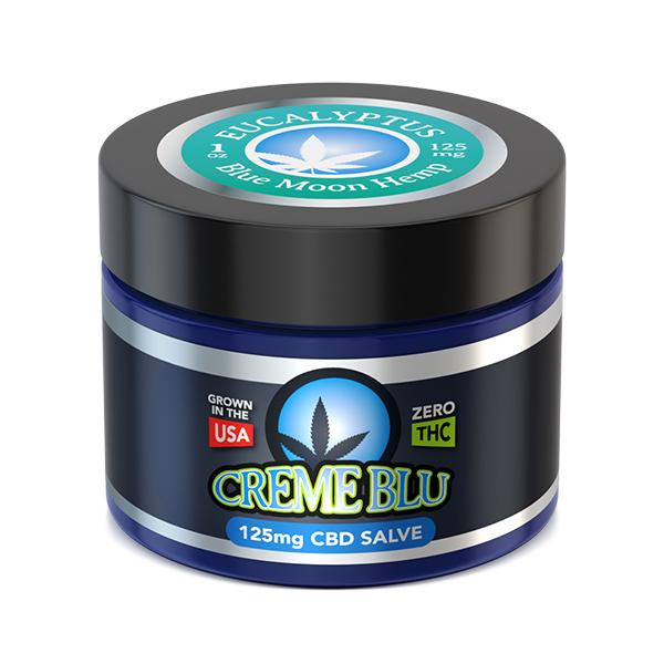 CBD Creme Blu Salve by Blue Moon Hemp (Eucalyptus)