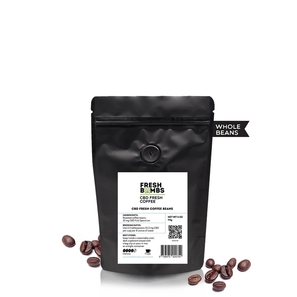 CBD Fresh Coffee Beans (4oz 35mg)