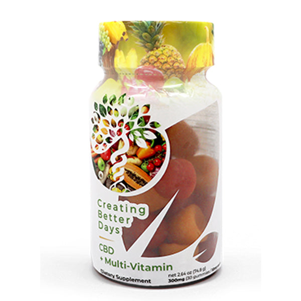 CBD+Multi-Vitamin CBD Gummies by Creating Better Days 300mg