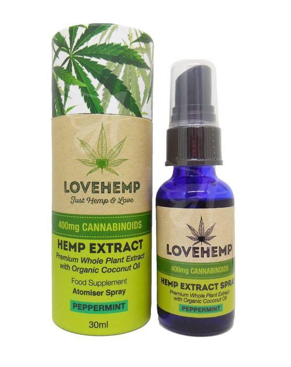 Love Hemp Extract Orange Atomizer Spray - Vapor Shop Direct CBD