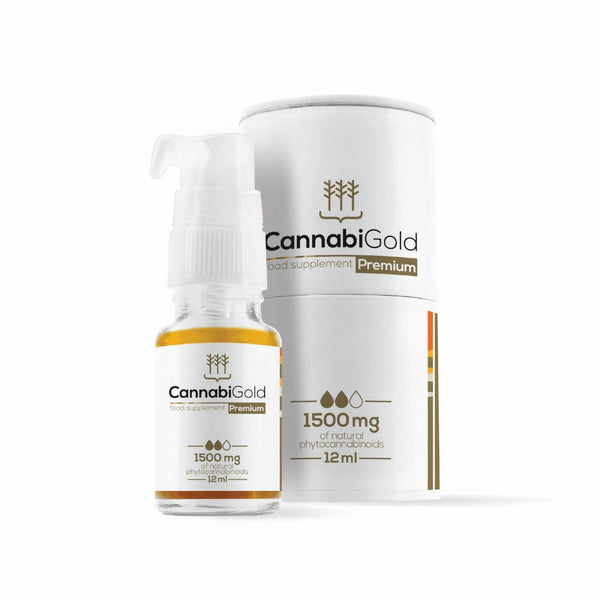 Premium CBD Oil by CannabiGold 1500mg 12ml