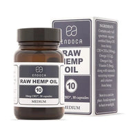 Endoca CBD Raw Hemp Oil Capsules 120pcs 10mg