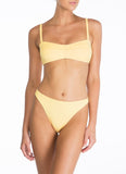Peony Swimwear Piped Crop - Banna