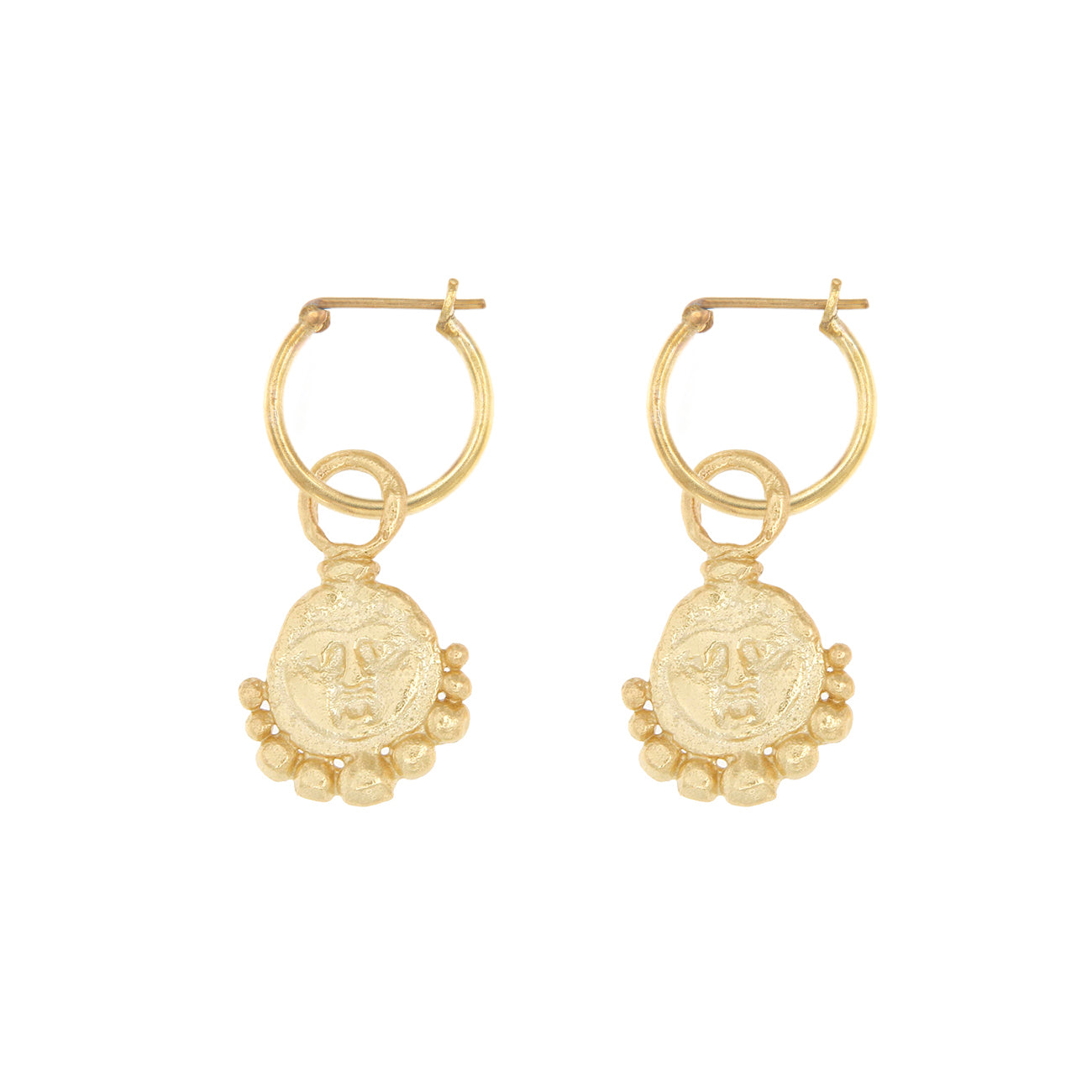 Gorgoneion Lion Hoops - 18K Gold Plated