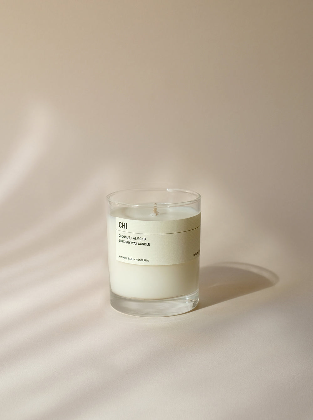 CHI: Clear Tumbler Soy Candle - Coconut - Almond