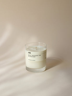 UME: Clear Tumbler Soy Candle - White Tea - Chrysanthemum - Plum