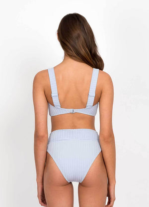 Peony Swimwear Panelled Crop - Cornflower