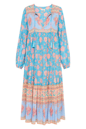 Love Story Boho Dress - Sky Blue