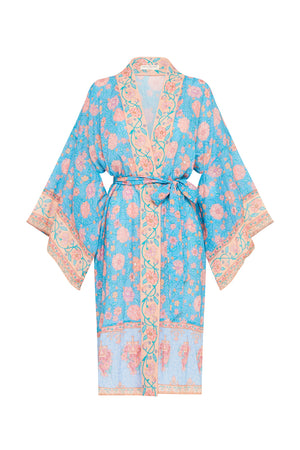 Love Story Midi Robe - Sky Blue