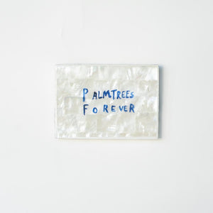 Ahoy Trader Palmtrees Forever Shell Mini Tile