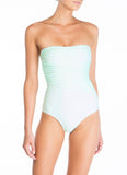 Peony Swimwear Strapless One Piece - Mint