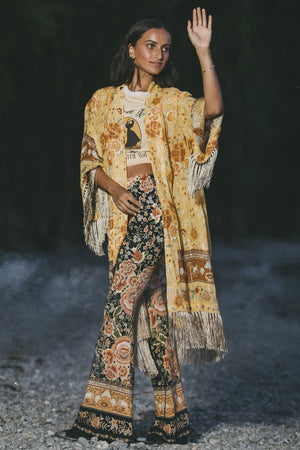 Mystic Tasseled Robe - Sunflower