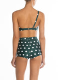 Peony Swimwear One Shoulder Crop - Pebble