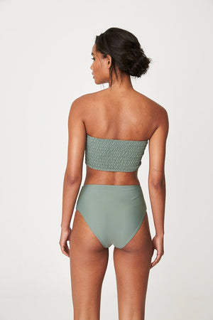 Rowie Holiday High Waist Brief - Army