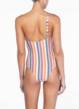Peony One Shoulder One Piece - Rainbow