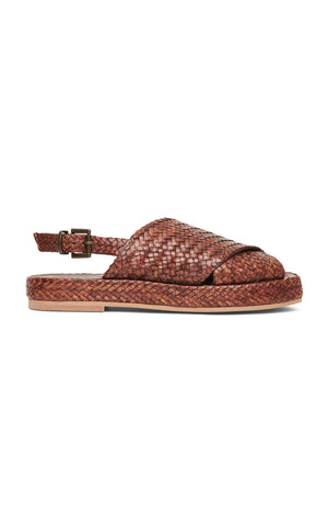 Yona Woven Slide - Antique Tan