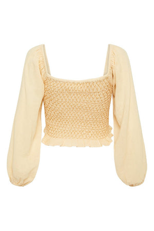 Jesse Jane Cropped Blouse - Honey