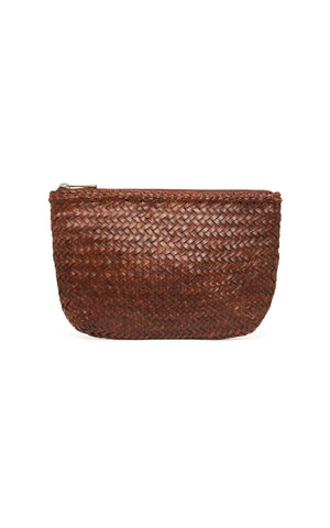 Ama Woven Clutch - Antique Tan