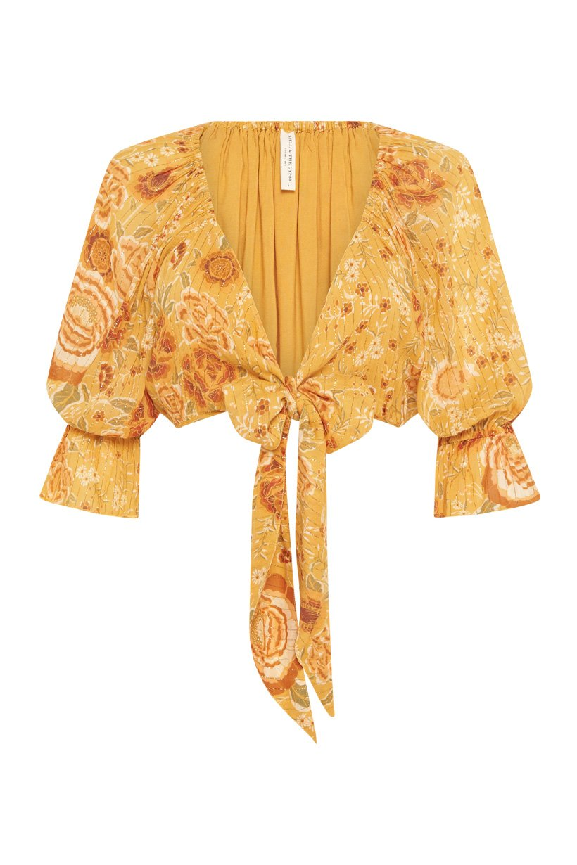 Mystic Tie Top - Sunflower