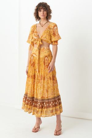 Mystic Maxi Skirt - Sunflower