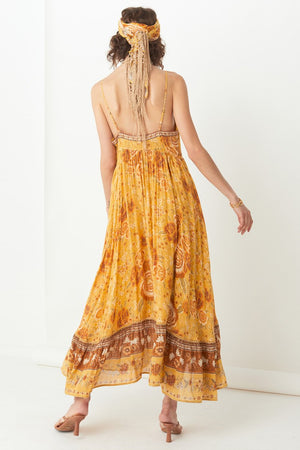 Mystic Strappy Maxi Dress - Sunflower