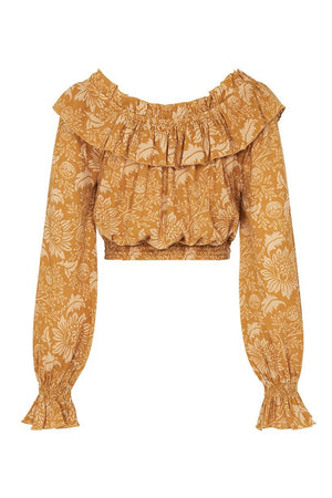 Spell Designs Lioness Peasant Blouse - Caramel