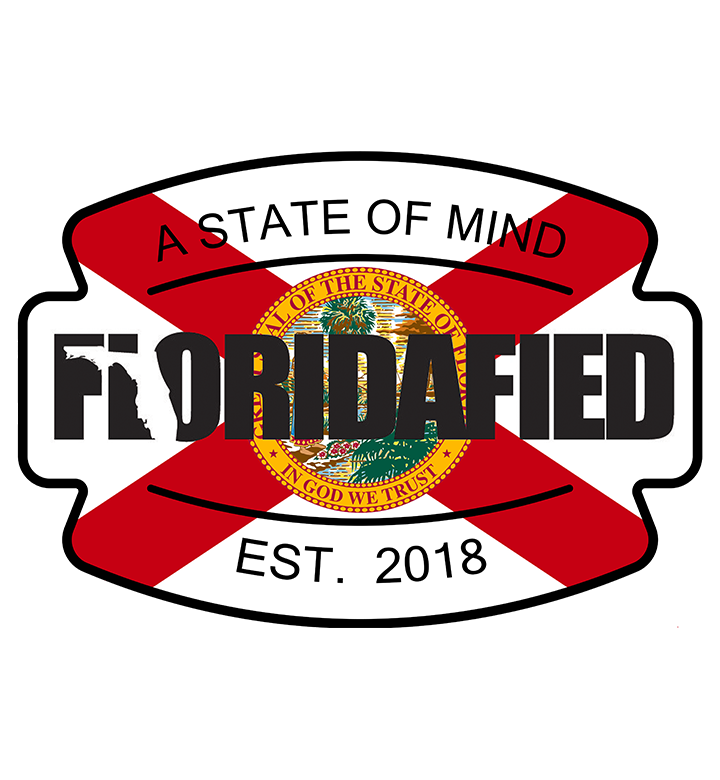 Floridafied Badge Original Logo Flag Sticker