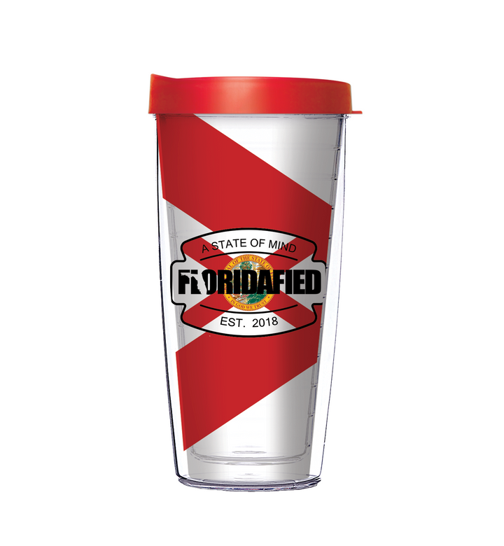 Floridafied Badge & Flag Tumbler