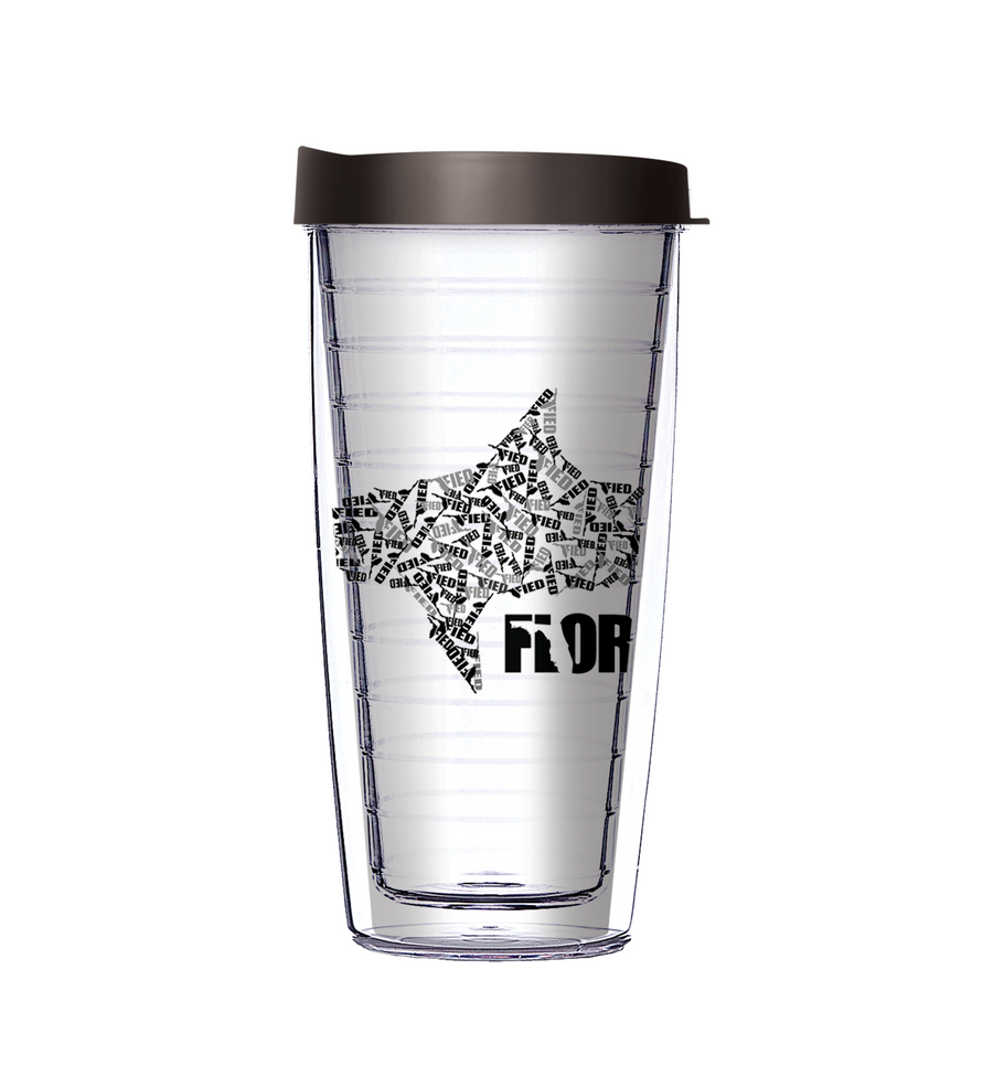 Floridafied Camo Shark State of Mind Tumbler