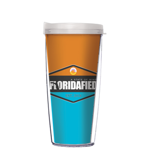 Floridafied Orange & Blue State of Mind Tumbler