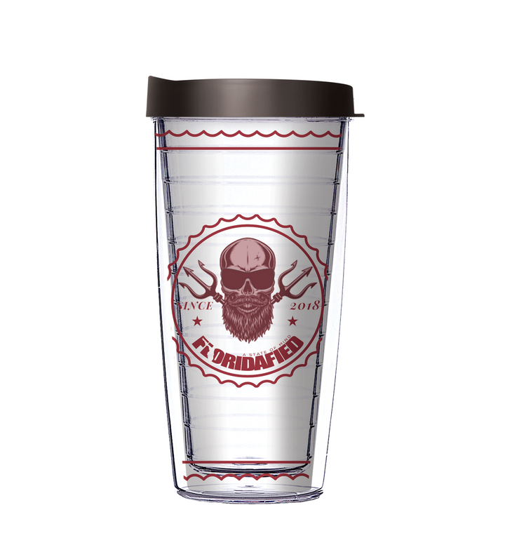 Floridafied Skull Trident Tumbler