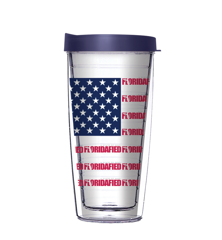 Floridafied's USA Flag Tumbler