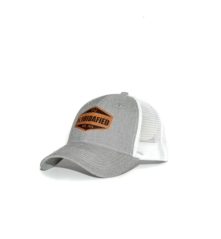 Grey Floridafied Badge Snap Back
