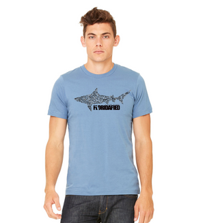 Steel Blue Shark Tee