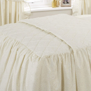 Vantona Country Monique Quilted Fitted Bedspread - Cream