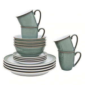 Denby Regency Green 16 Tableware Set