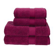 Christy Supreme Hygro 650gsm Cotton Towels - Raspberry