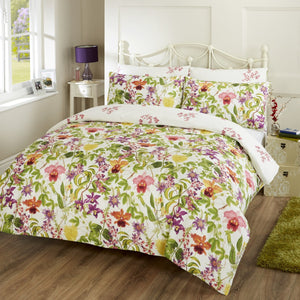 Vantona Anisha Floral Design Duvet Cover Set - Multi