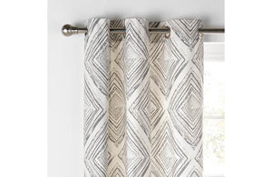 Argos Home Diamond Distressed Lined Curtains - Grey