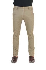 Ignite Wardrobe Men's Casual Trousers Slim-Fit Khaki Stretchable Chino Pants
