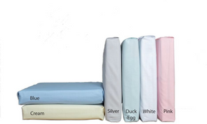 100% Luxury Cotton Plain Dyed Seeting Fitted and Flat - Vantona Home Sheeting