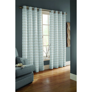 Eyelet Lined 100% Cotton Curtains Ready Made