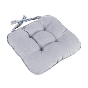 Lewis Check Piped Chunky Seat Pad Cushion - Ocean