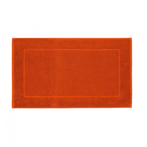 Christy Supreme Hygro 1000gsm Cotton Towelling Bath Mat - Paprika