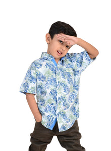 Ignite Wardrobe Boy's Shirt Short Sleeve Casual 100% Cotton Age 4-12 Years