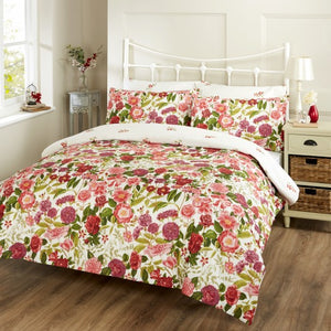 Vantona Prudence Floral Design Duvet Cover Set - Multi