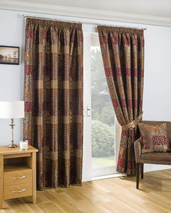 Sundour Casablanca Lined Pencil Pleat Curtains – Terracotta