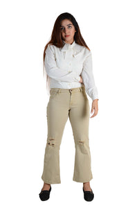 Ignite Wardrobe Women's Jeans Casual Boot-Cut Stretchable Cotton Pants
