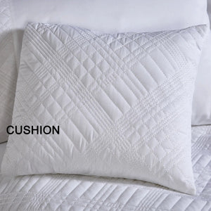 Vantona Milan Filled Cushion Covers 40 x 40 cm - White