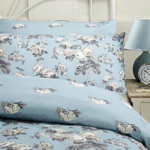 Vantona Antique Floral Duvet Cover Set - Teal